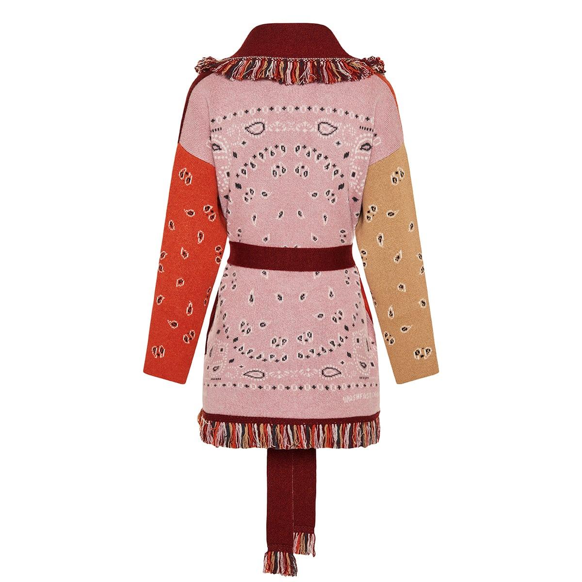 Icon bandana jacquard cashmere cardigan