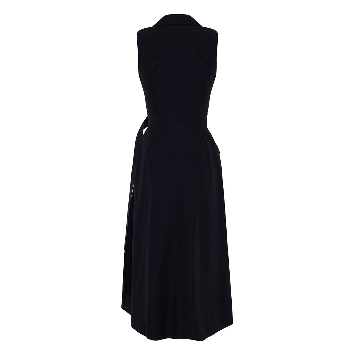 Belted wrap midi dress