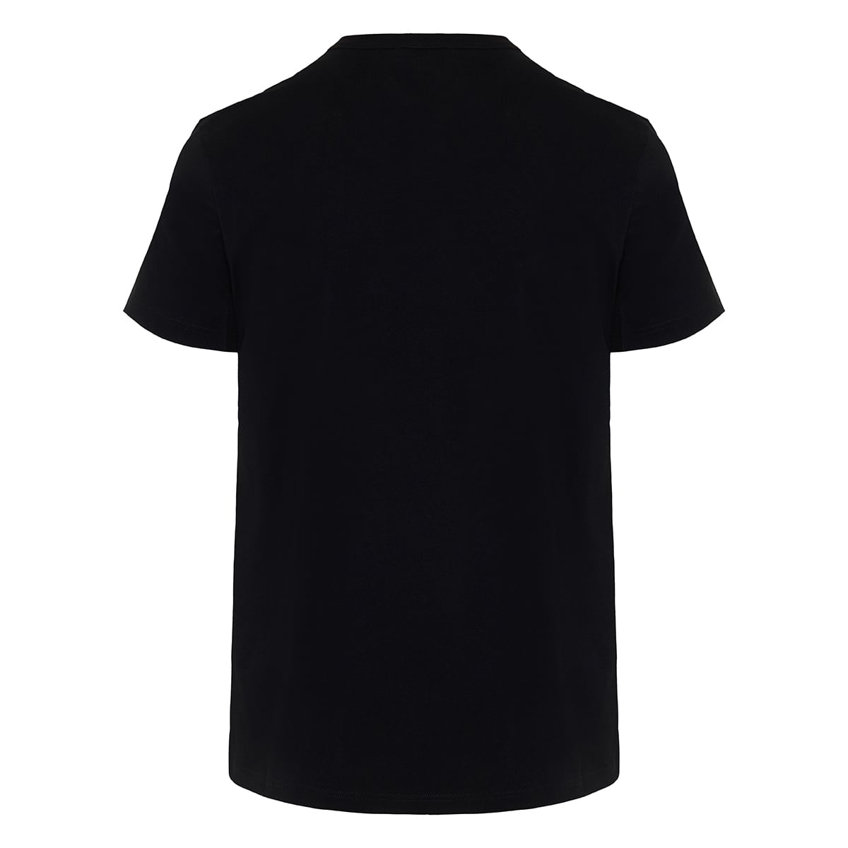 Skull-embroidery jersey t-shirt
