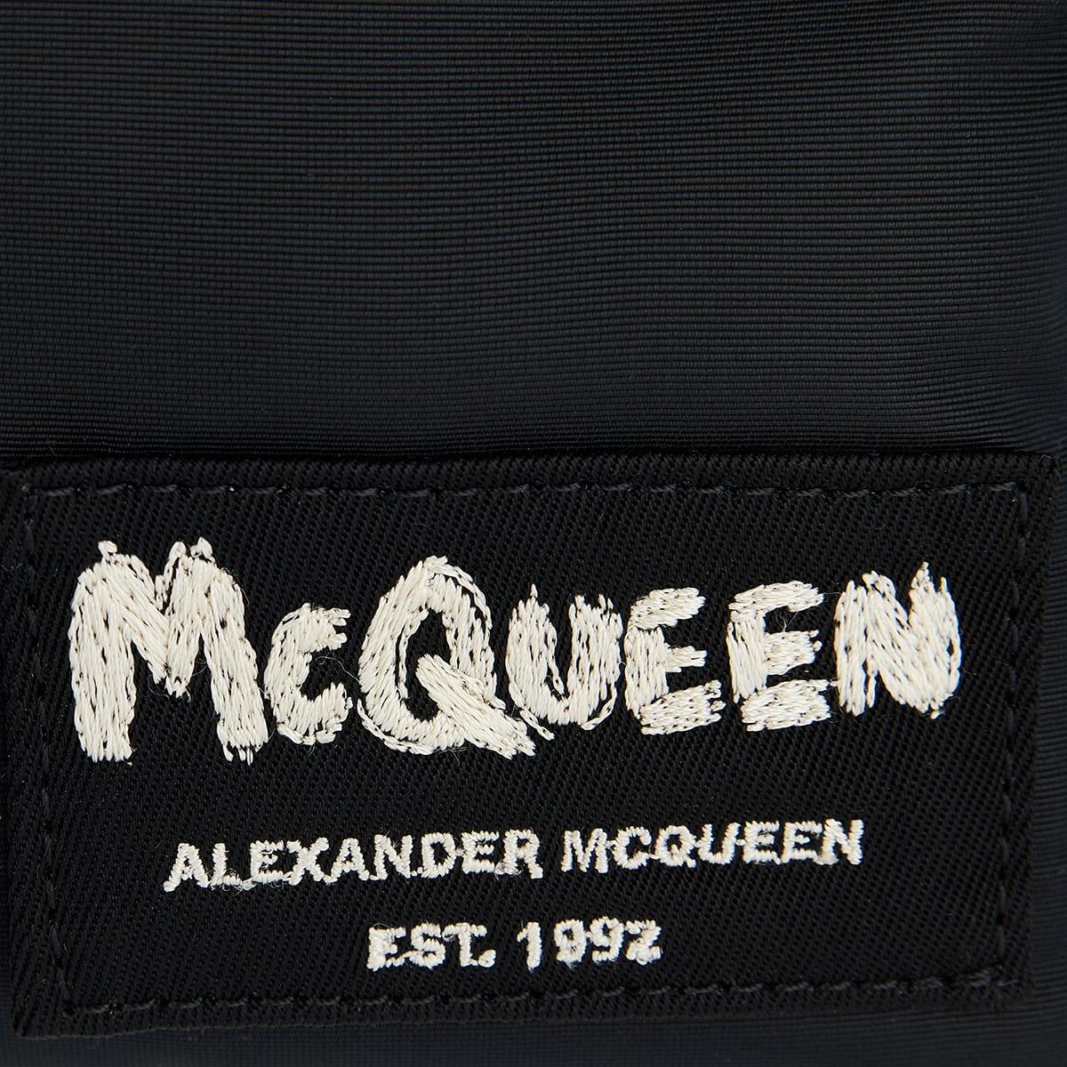 McQueen Tag nylon messenger bag