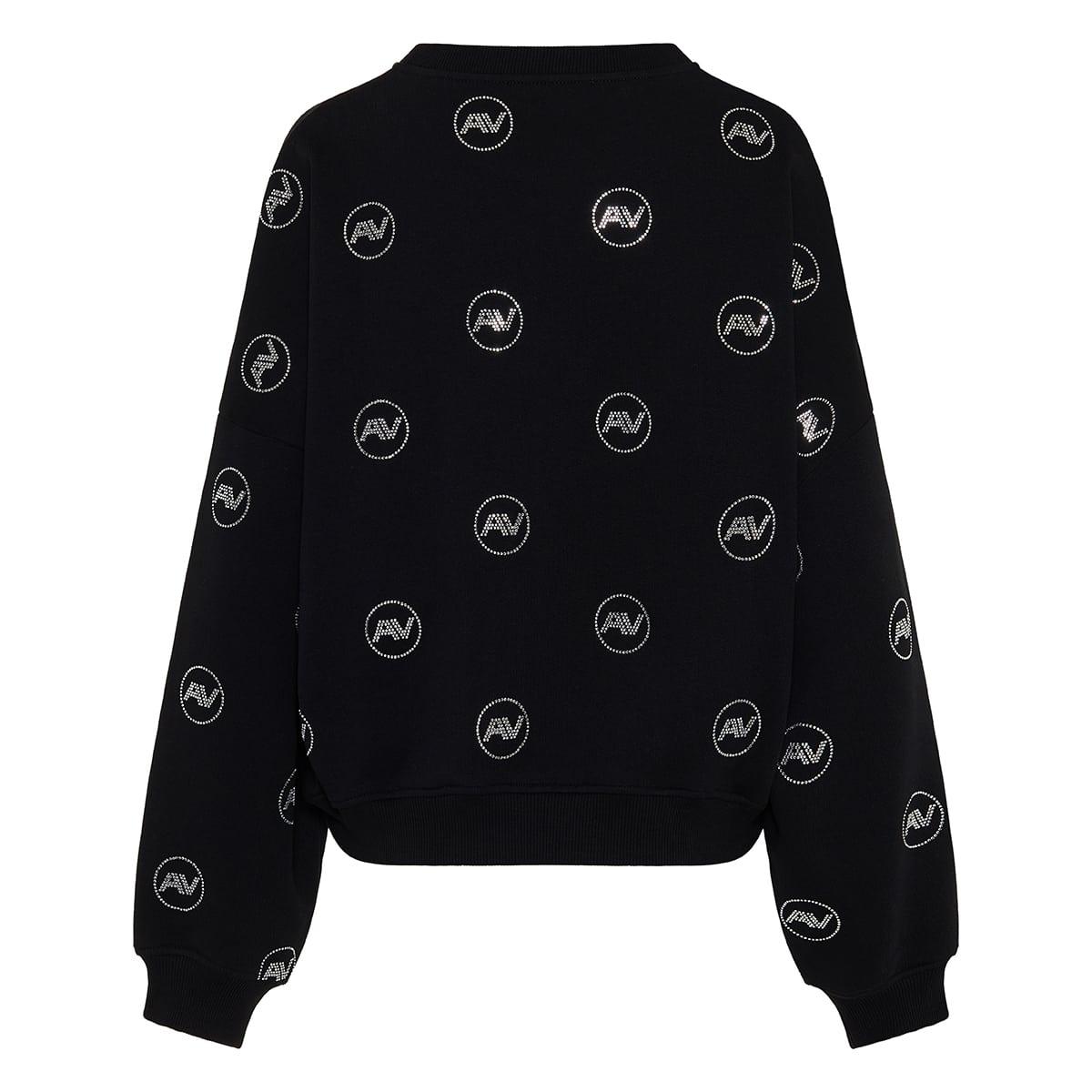 Monogram crystal-embellished sweatshirt