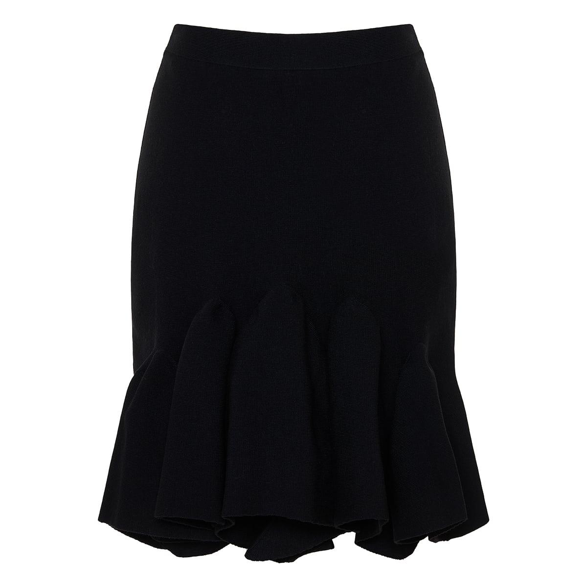 Wool knit mini skirt