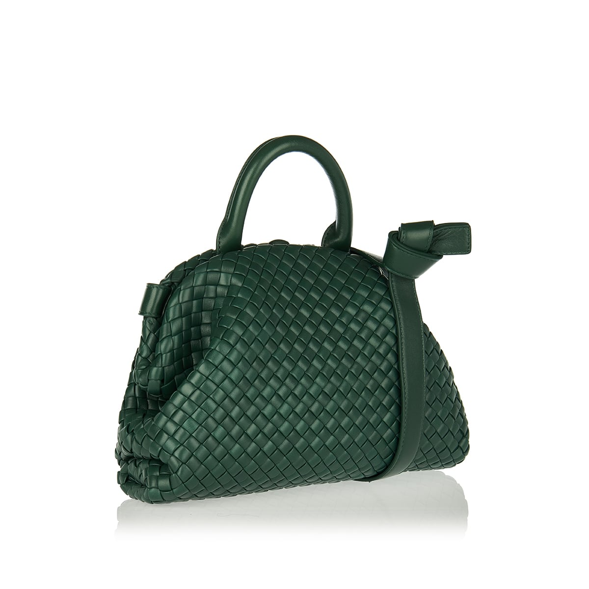 Handle Intreccio leather bag