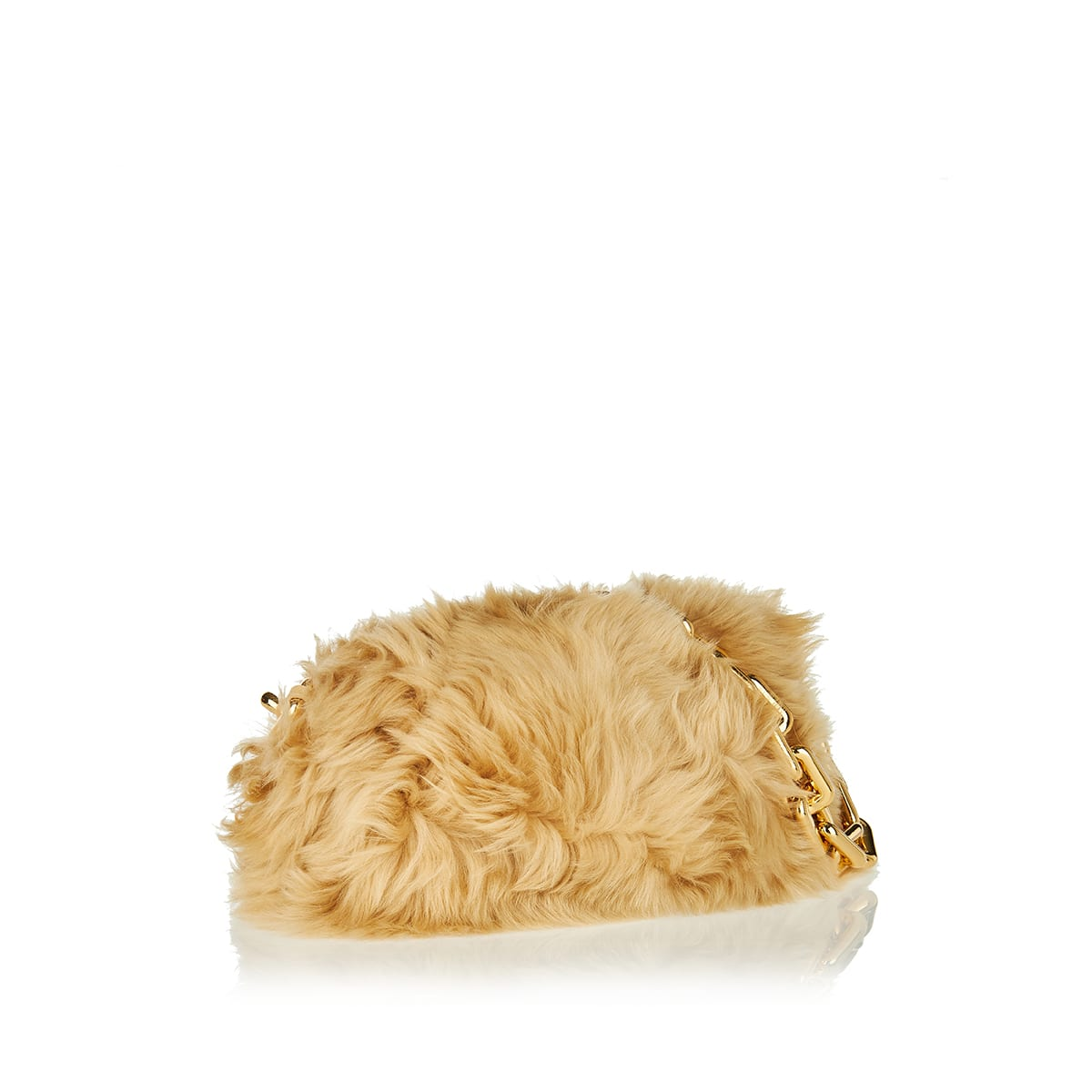The Chain Pouch shearling clutch