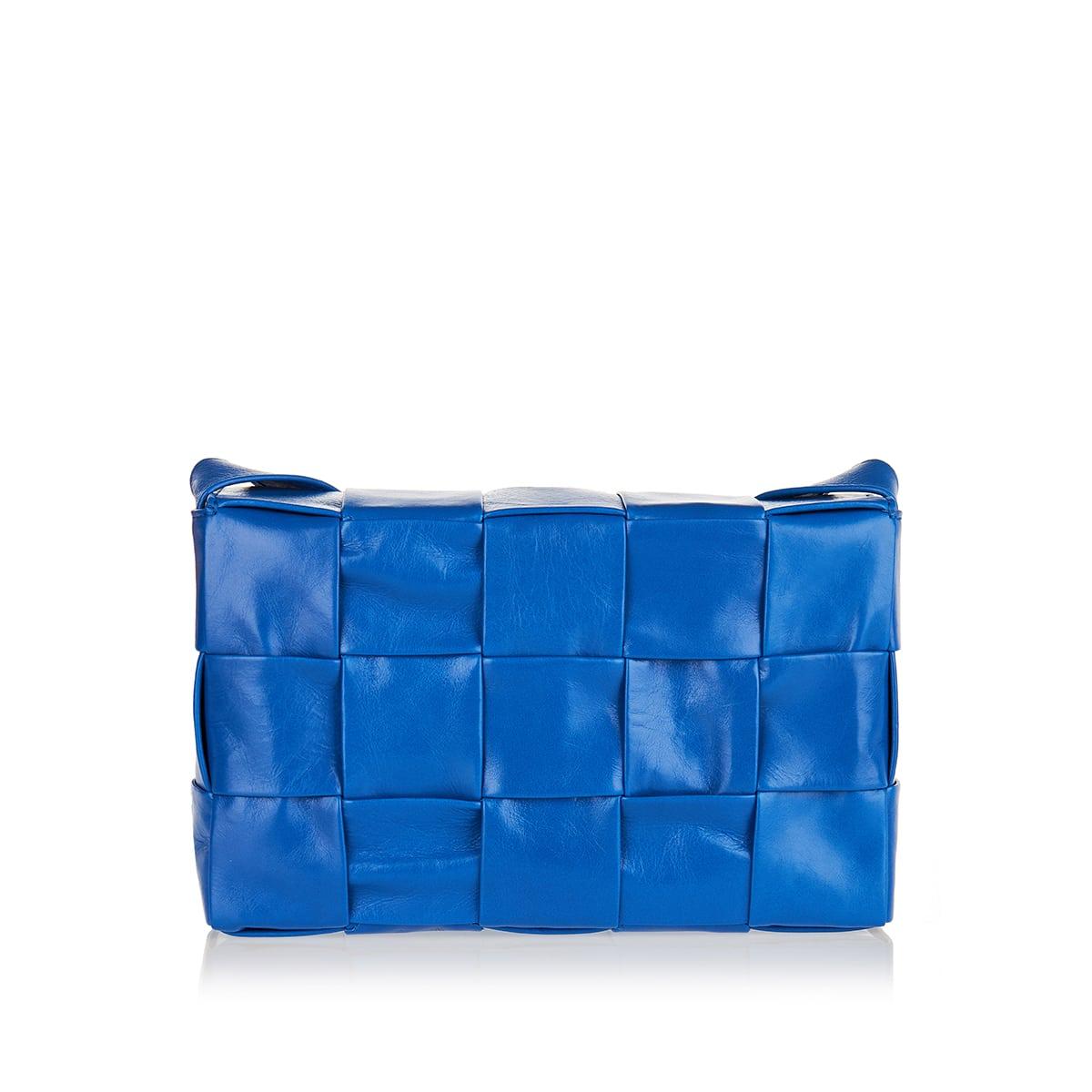 Cassette woven leather bag