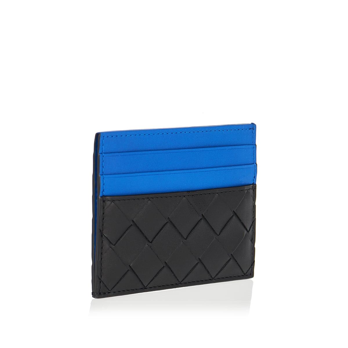 Two-tone Intrecciato leather card case