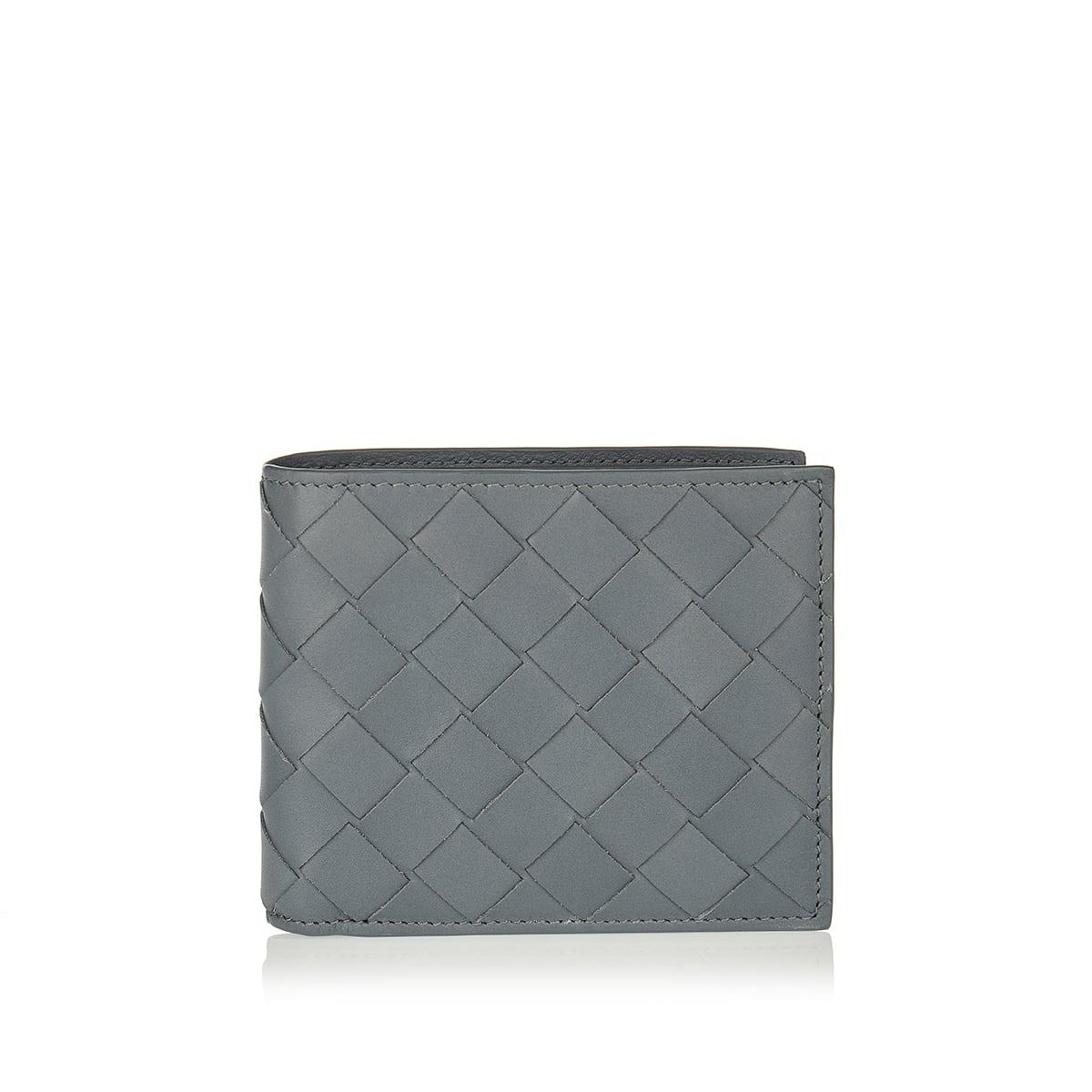 Bi-fold Intrecciato leather wallet