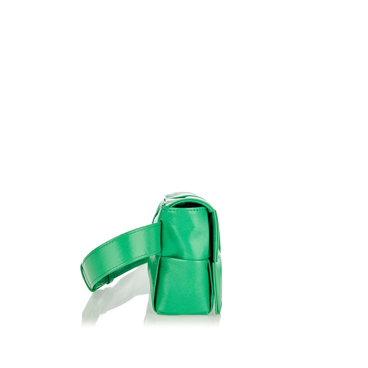 Cassette mini leather belt bag