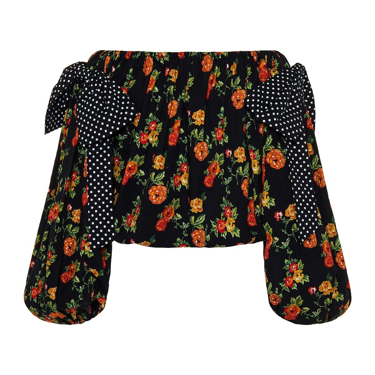 Mason off-the-shoulder floral top
