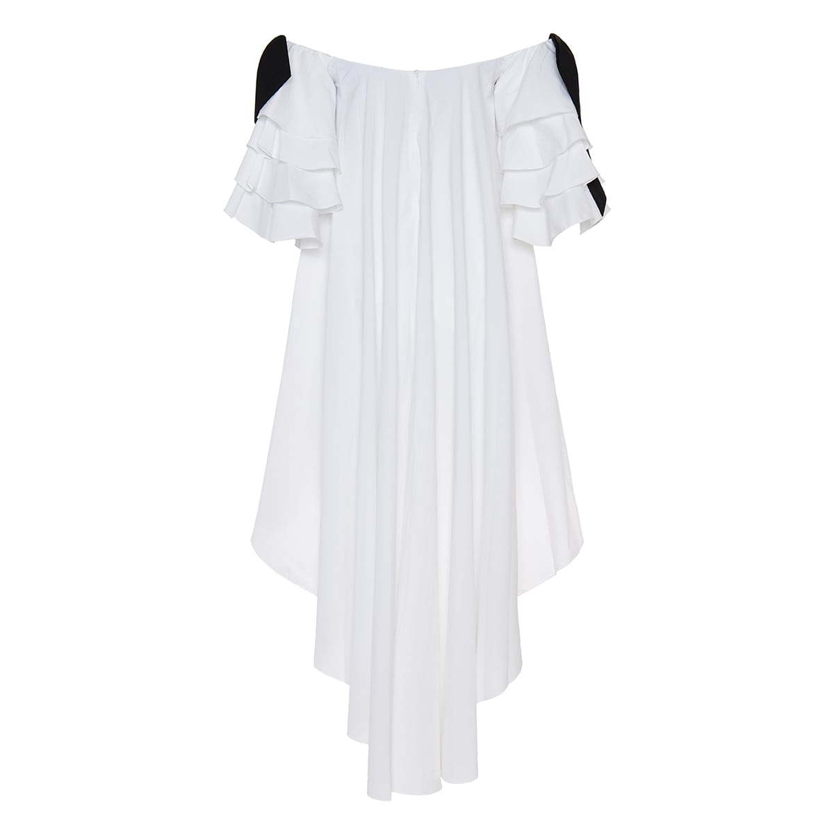 Fiona off-the-shoulder asymmetric mini dress