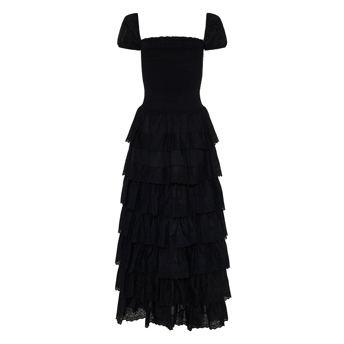 Keegan tiered cotton long dress