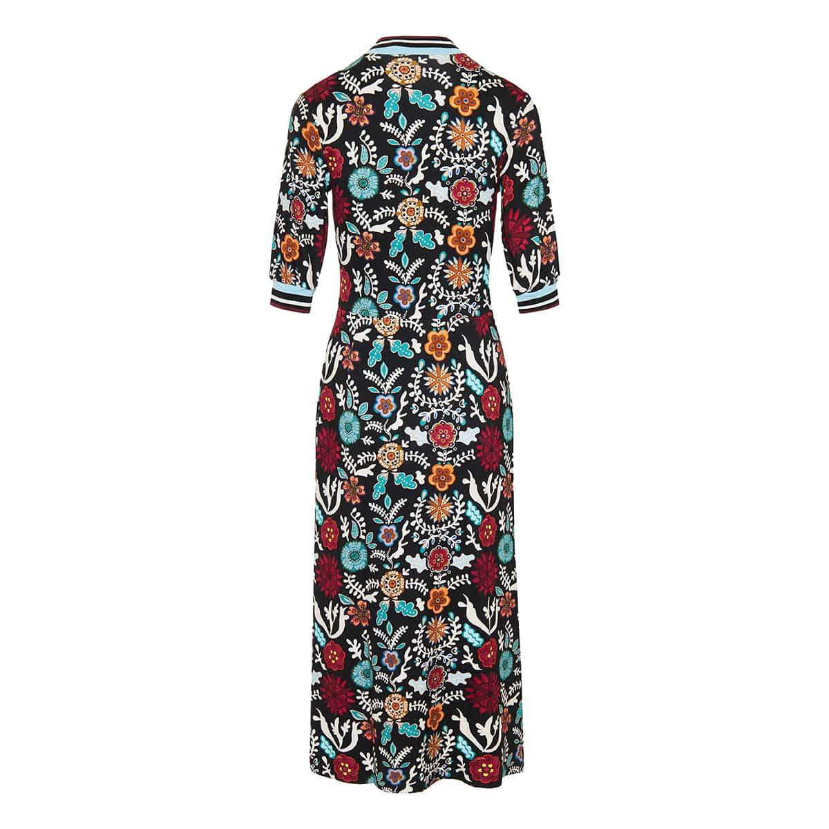 Snug printed midi dress