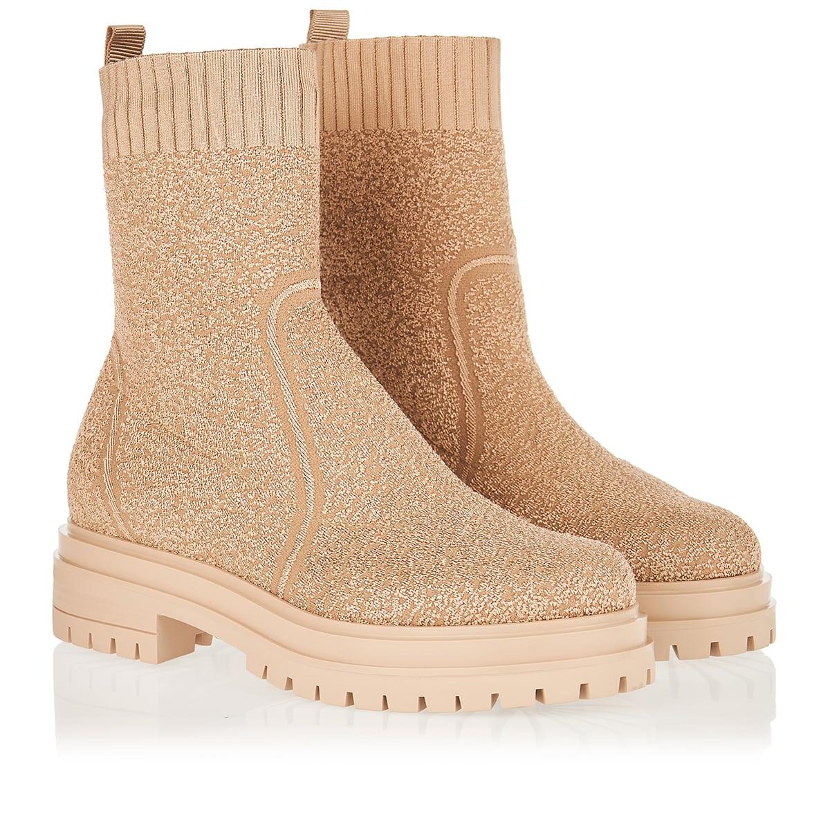 Torrance bouclé knit ankle boots