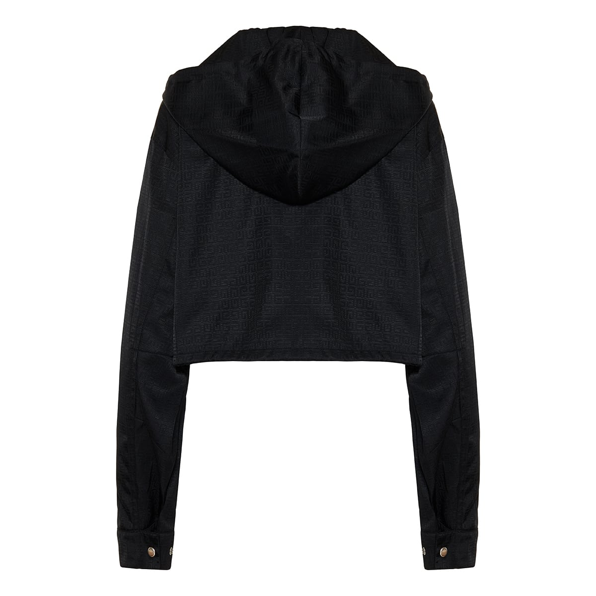 4G cropped jacquard nylon jacket