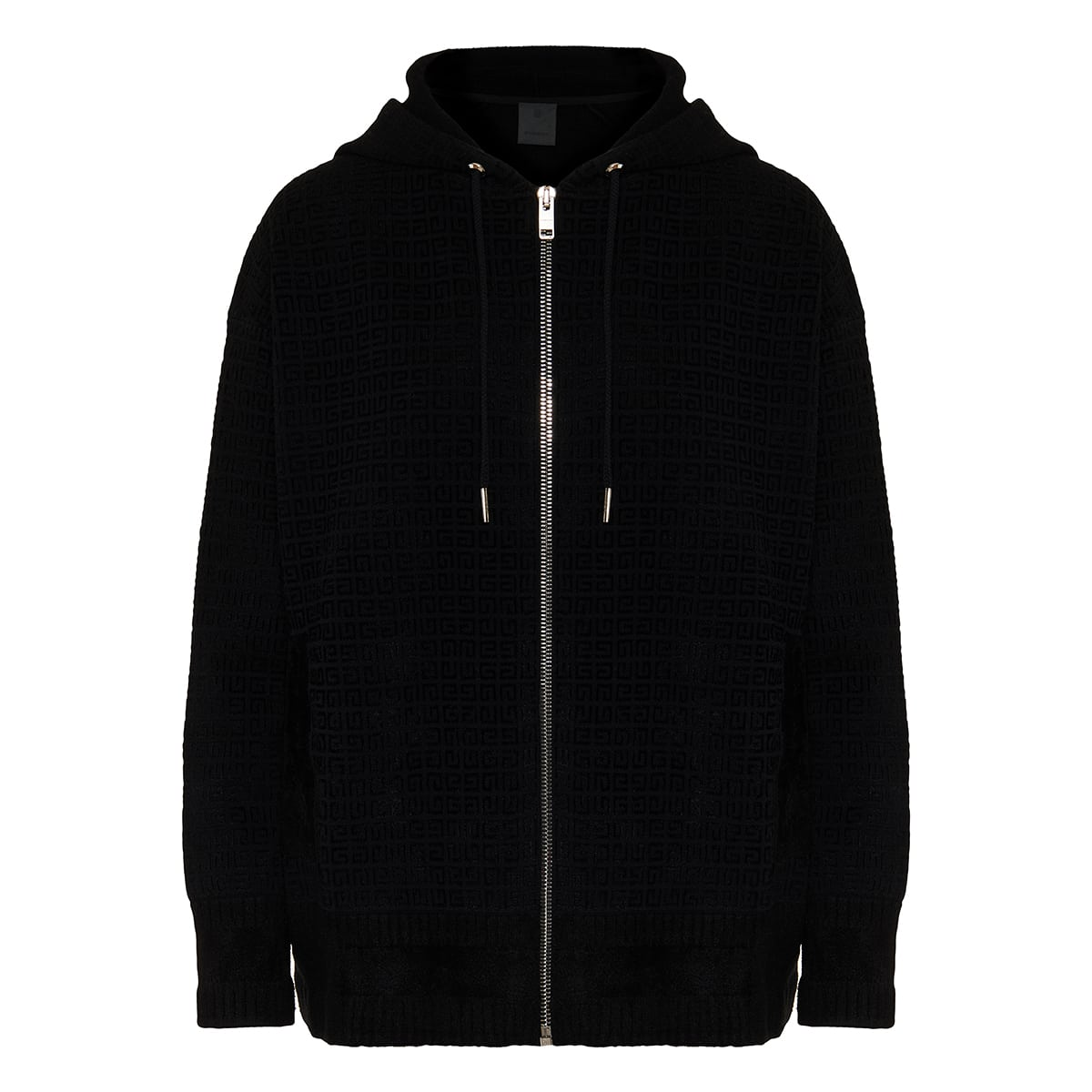 4G knitted zipper hoodie