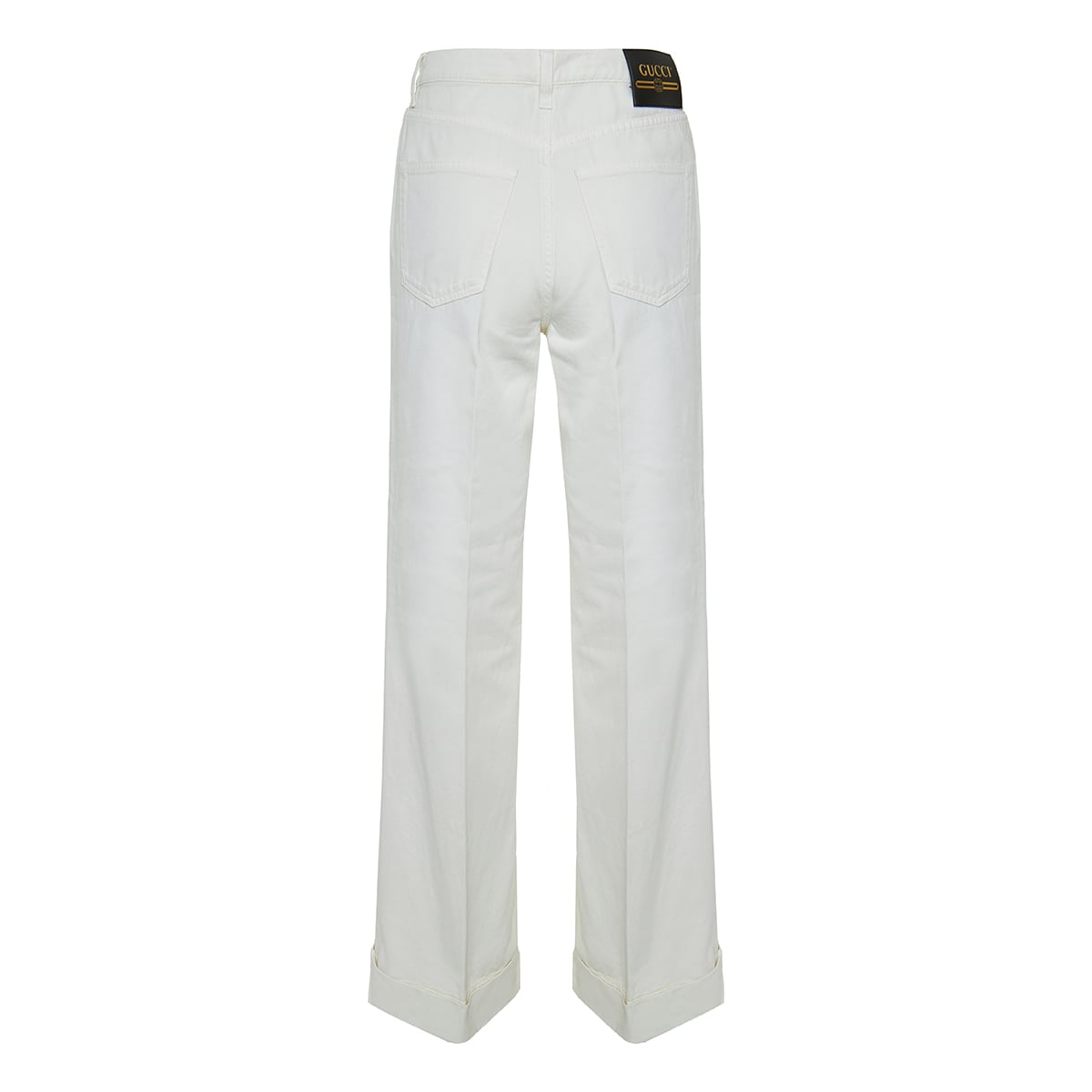 Flared organic cotton trousers