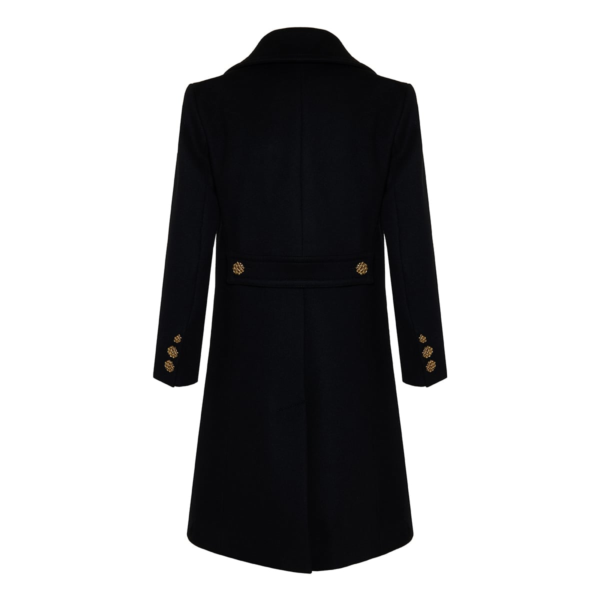 GG button-embellished wool coat
