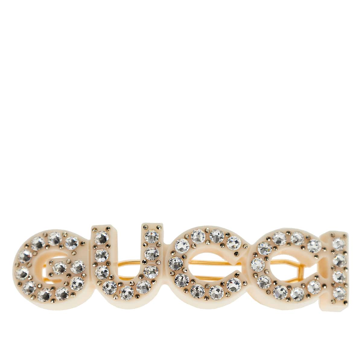 Gucci crystal-embellished hair clip