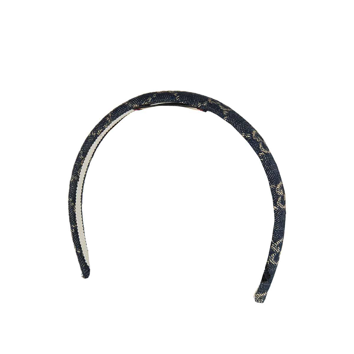 GG jacquard denim hair band