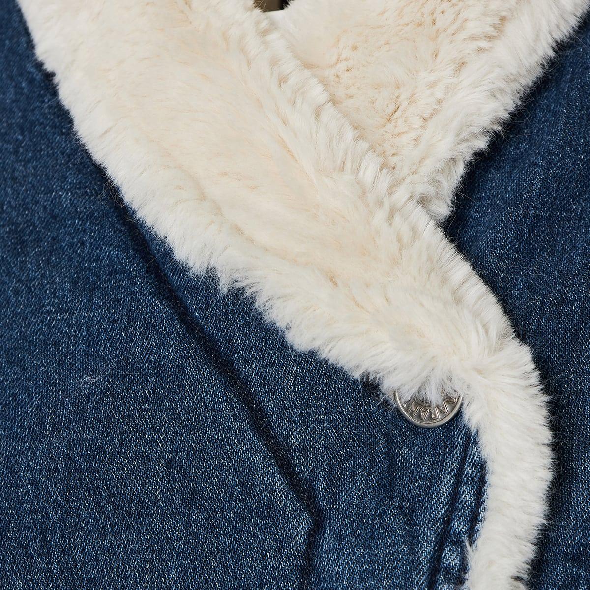 Dipauline faux fur and denim jacket
