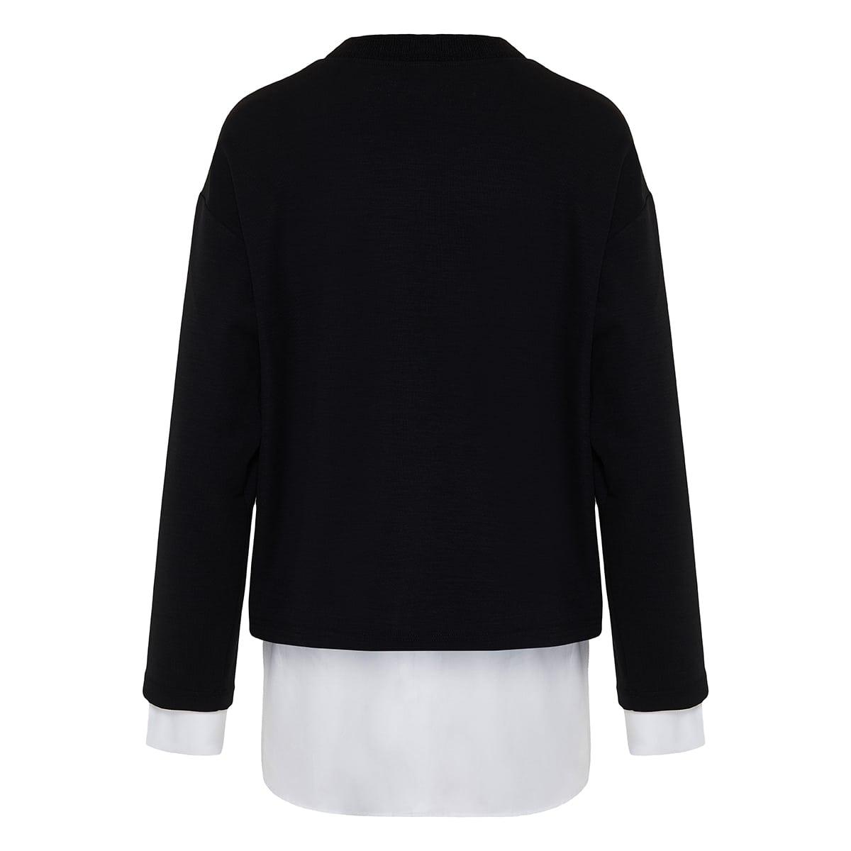 Double-layered sweatshirt