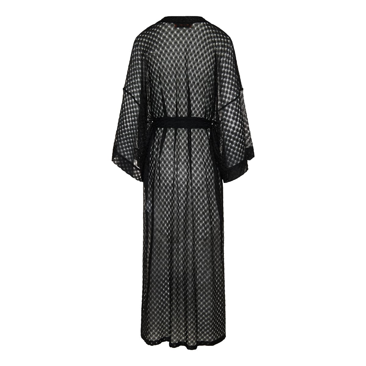 Knitted long robe cover-up