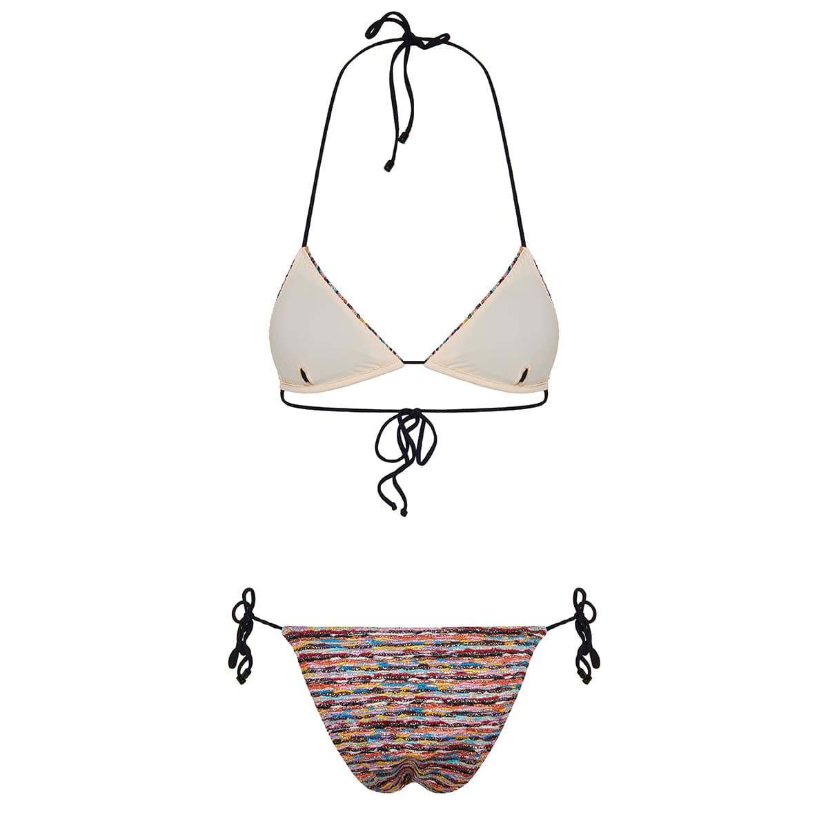 Lurex knitted bikini