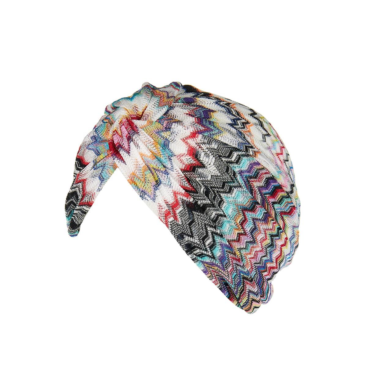 Chevron knit turban