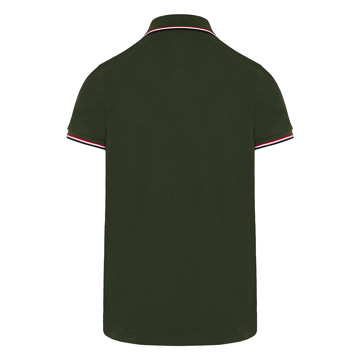 Stripe-detail polo shirt