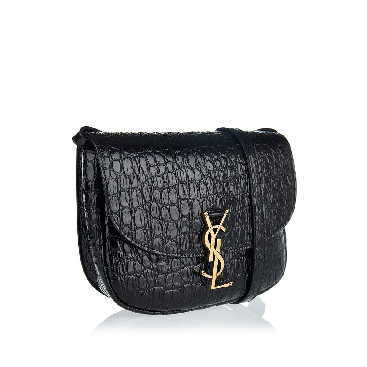 Kaia croc-effect leather bag