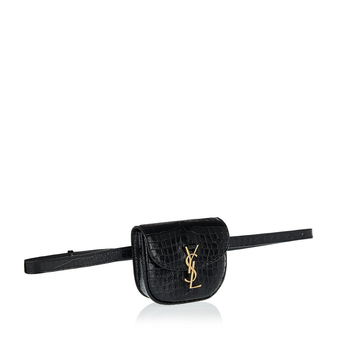 Kaia croc-effect leather belt bag