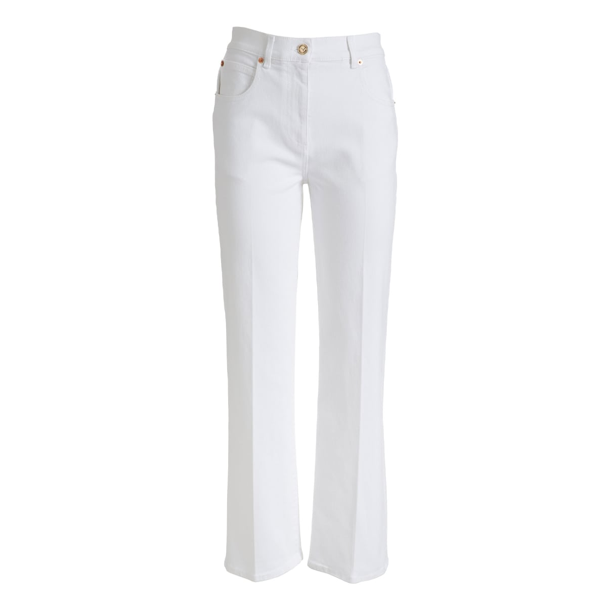 VGold cropped denim trousers