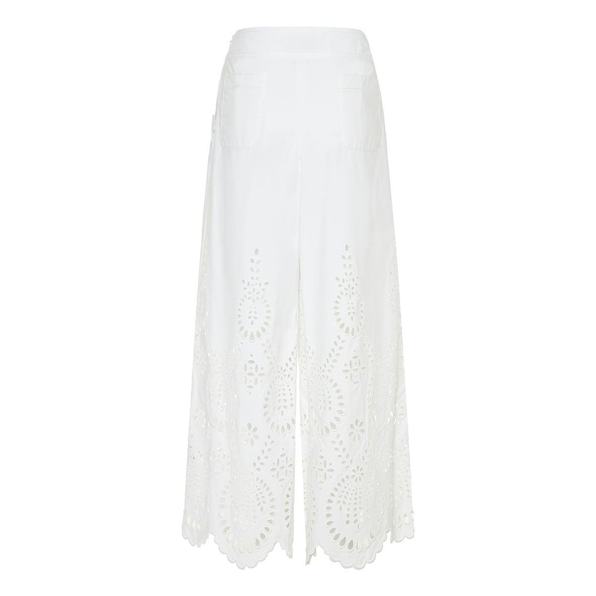 San Gallo Edition wide-leg poplin trousers