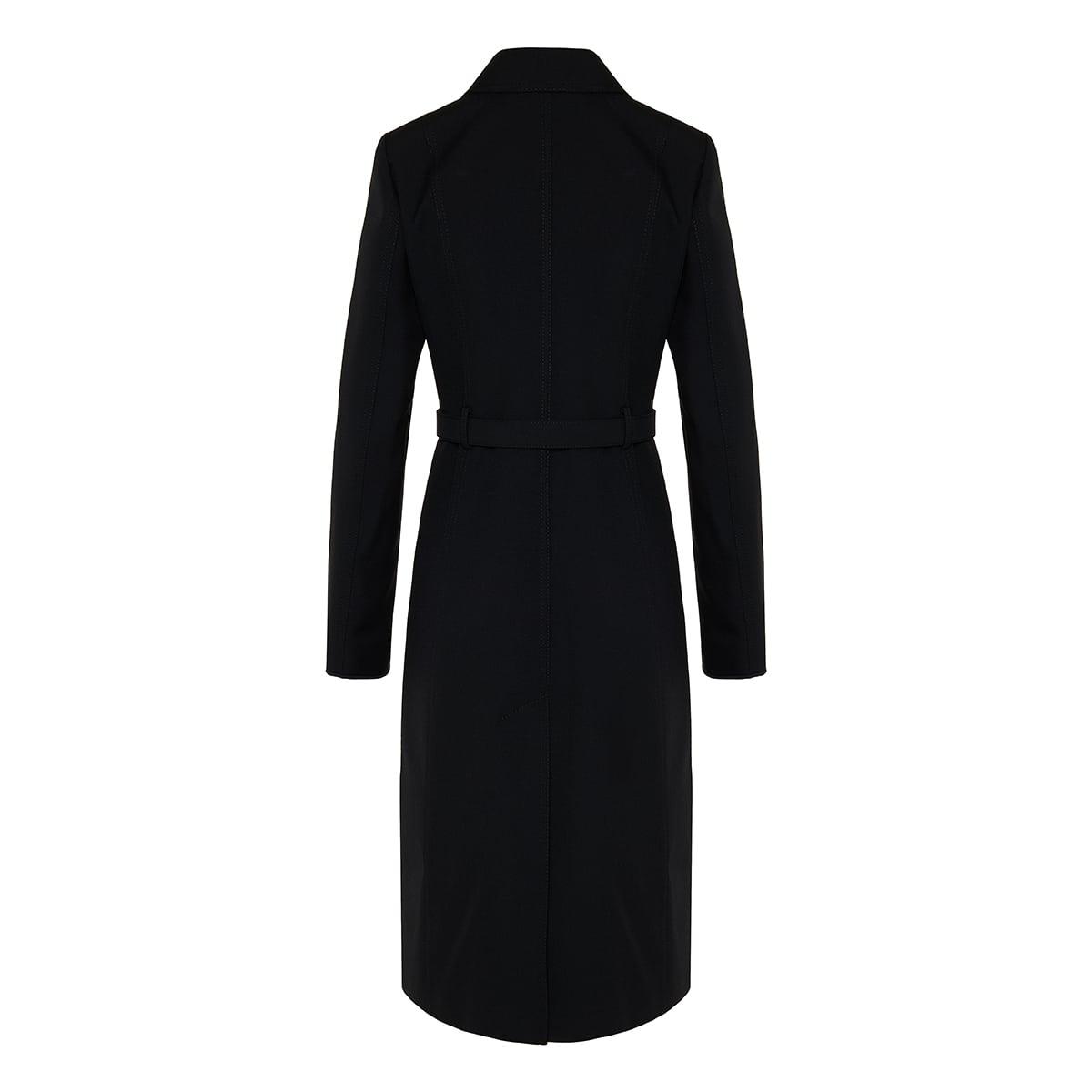 Vlogo belted wool coat