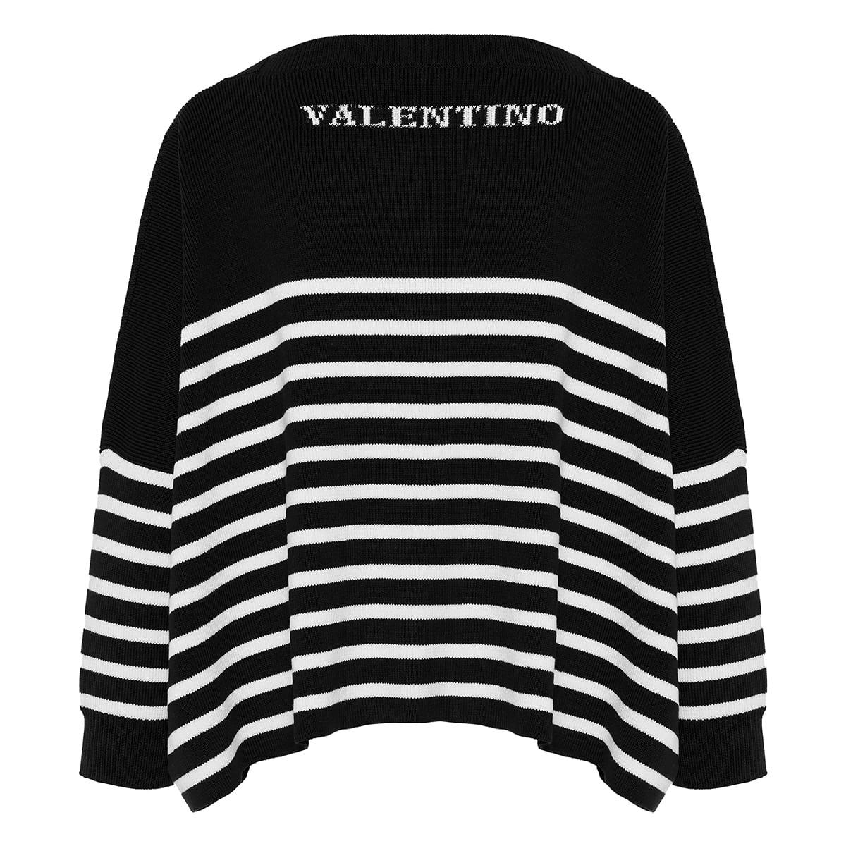 Oversized striped logo sweater