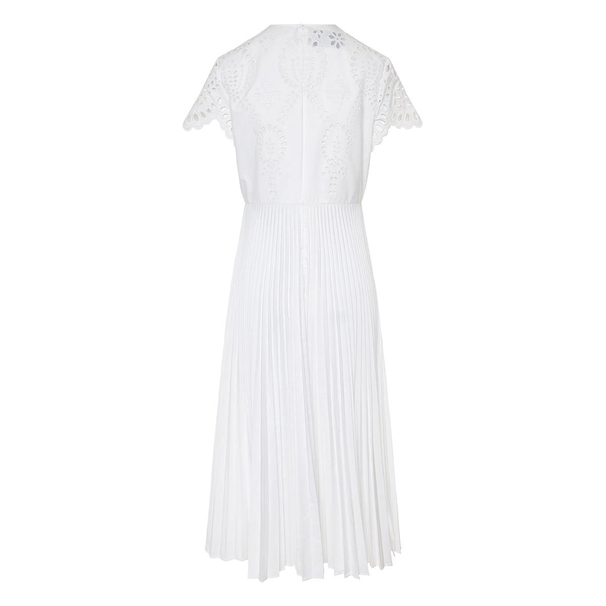 San Gallo Edition pleated midi dress