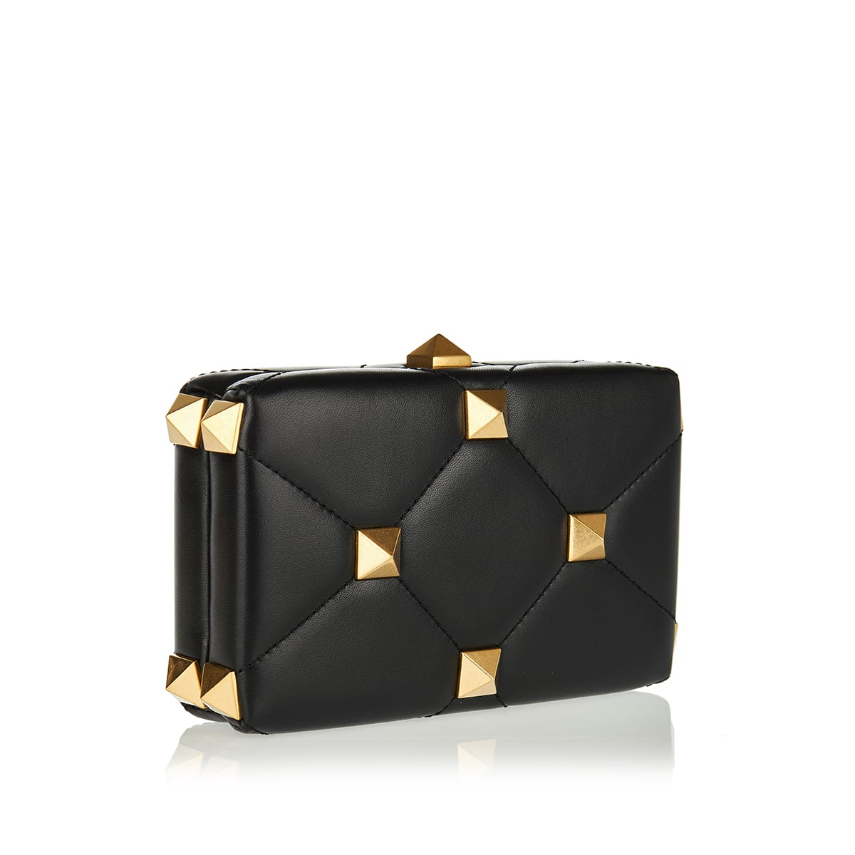 Roman Stud quilted leather clutch