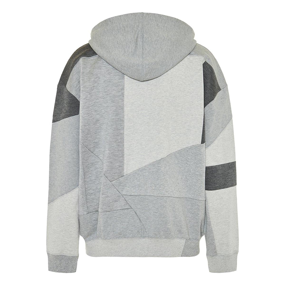 VLTN patchwork zipper hoodie