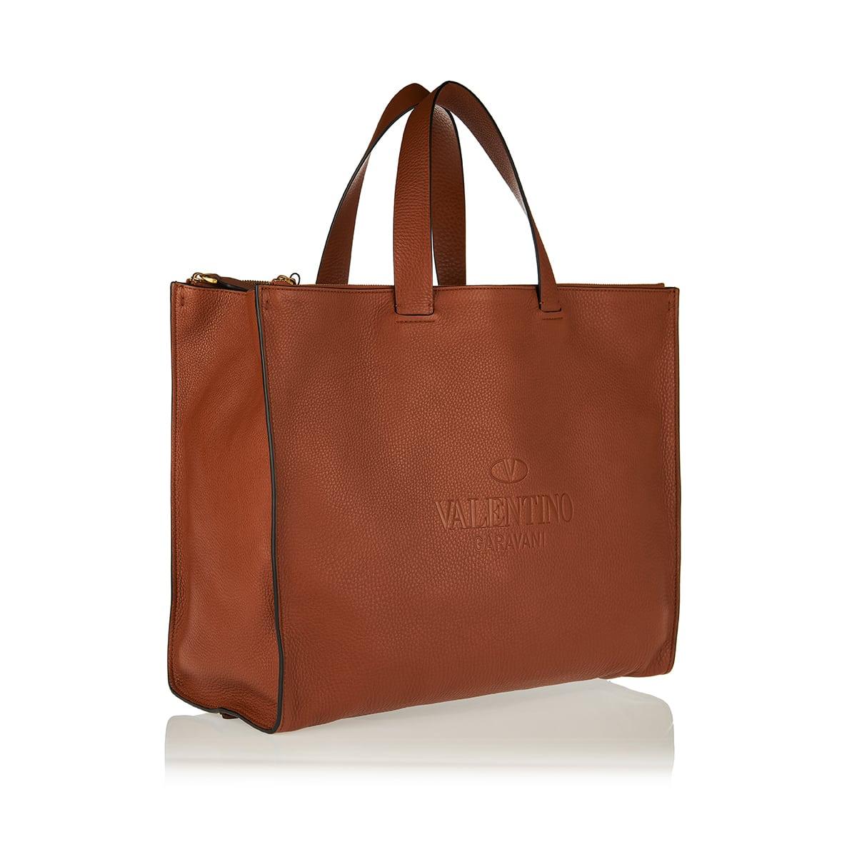 Identity leather tote