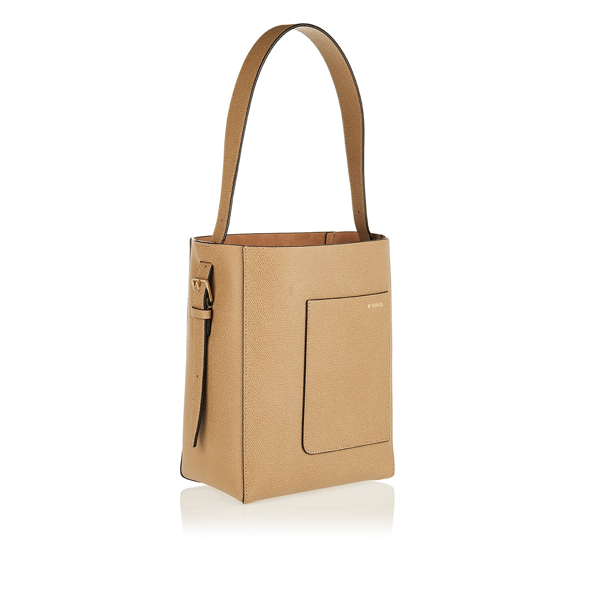 Bucket small leather bag