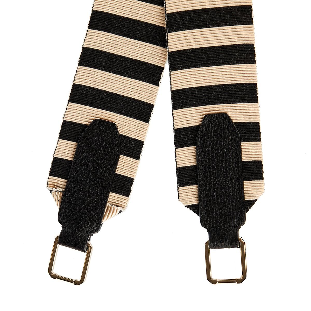 Striped bag strap