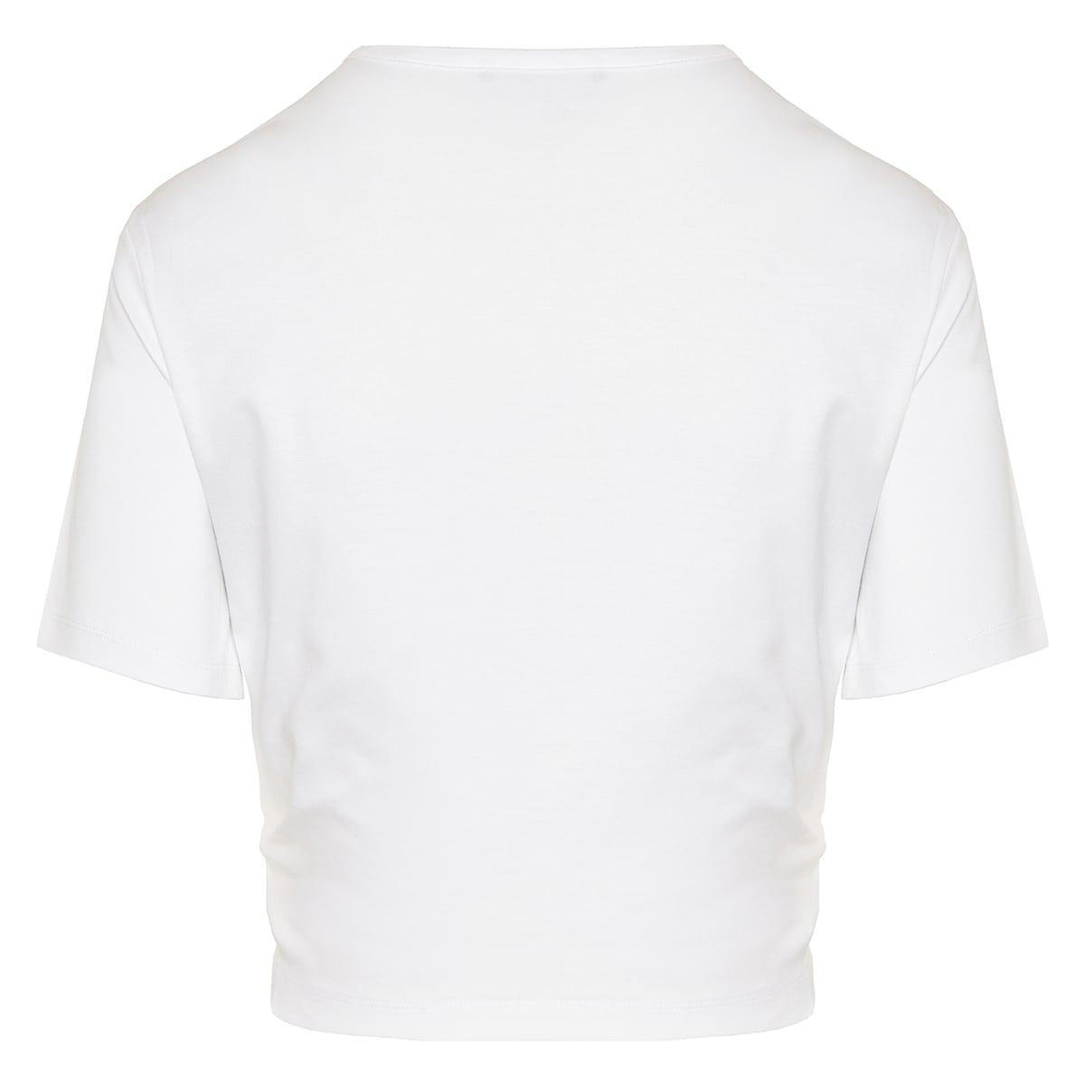 Embellished logo cropped t-shirt