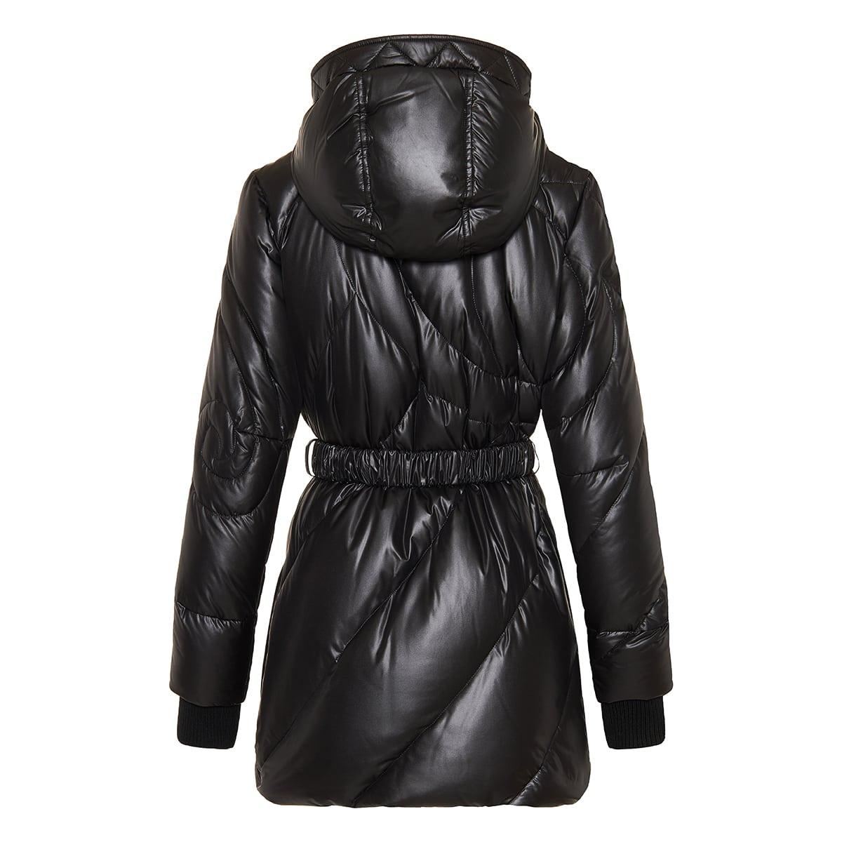 Medusa belted puffer jacket