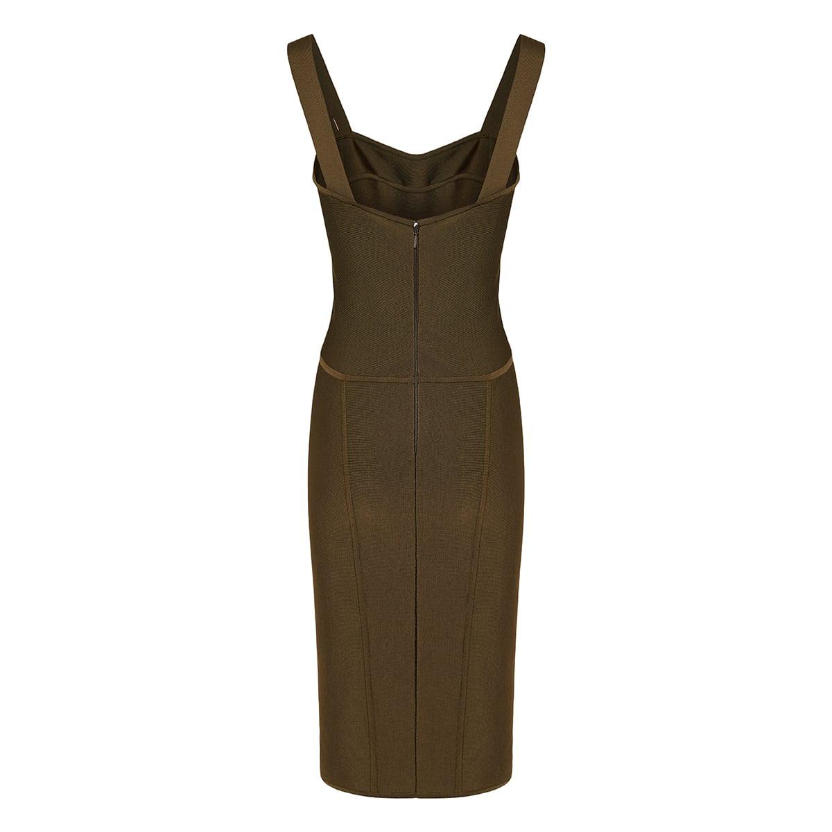 Pin-embellished midi dress