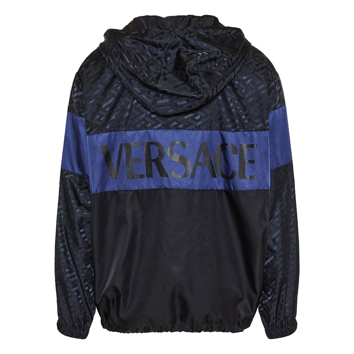 Greca jacquard nylon jacket