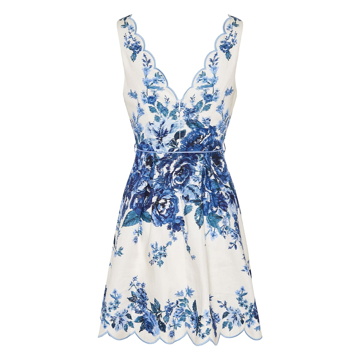 Aliane floral scalloped mini dress