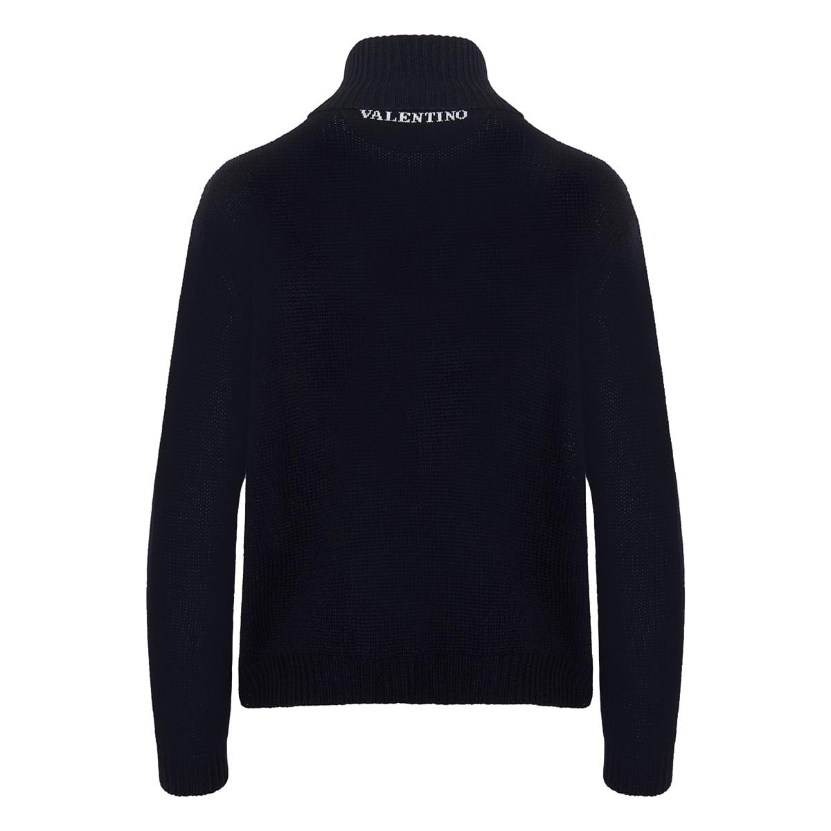 Turtleneck logo cashmere sweater