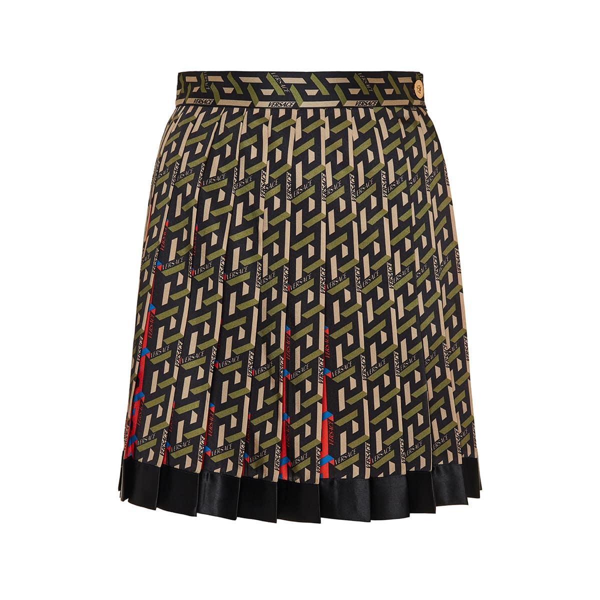 La Greca logo pleated mini skirt