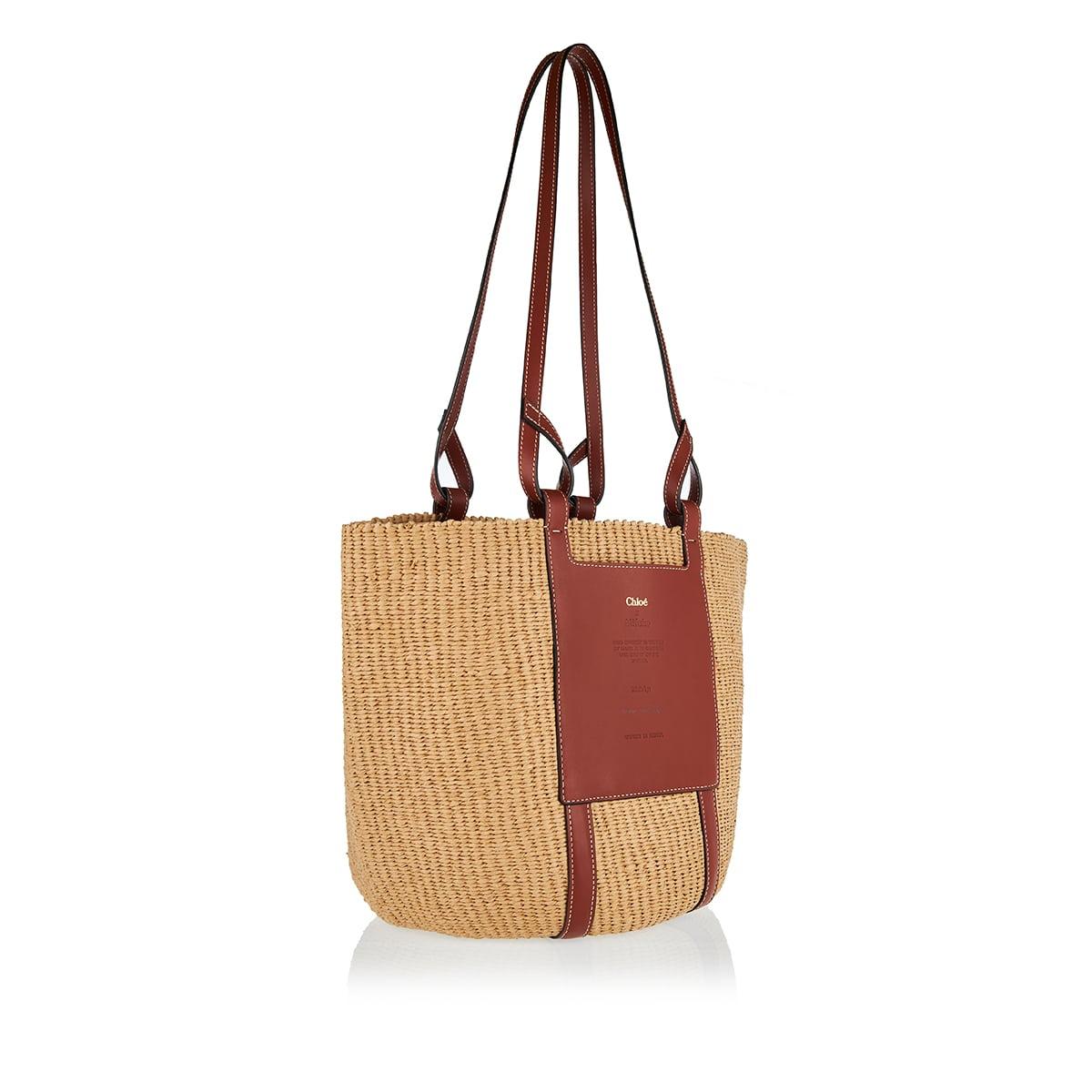 Fair-trade paper large basket bag