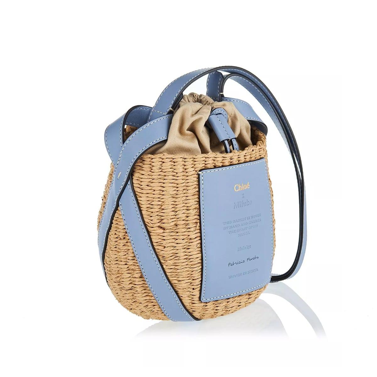 Small fair-trade paper basket bag
